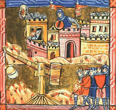 Belagerung von Akkon während des 3. Kreuzzuges.