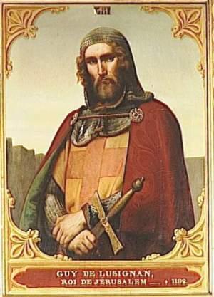 König Guido von Jerusalem - er überlebt die Schlacht von Hattin.