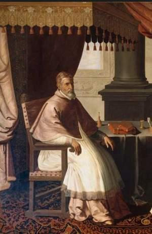 Papst Urban II. auf einem Gemälde von 1630