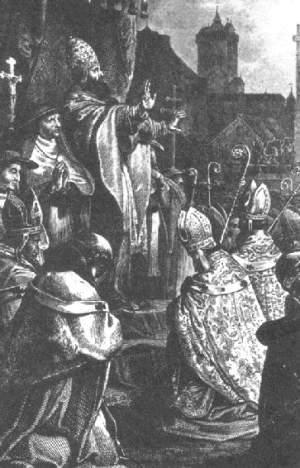 Papst Urban II. ruft zum ersten Kreuzzug auf.