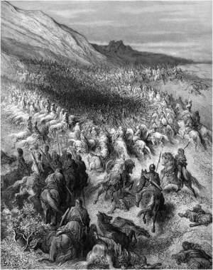 Schlacht von Hattin - Gemälde aus dem 19. Jahrhundert.