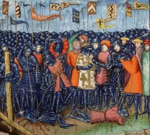 Schlacht von Hattin - Darstellung aus dem 15. Jahrhundert.