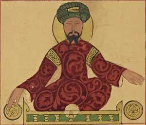 Mögliches Porträt von Sultan Saladin, entstand 1185.